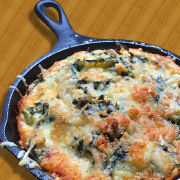 Baked Spinach and Zucchini