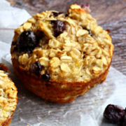 Blueberry Pecan Oatmeal Muffins