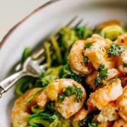 zucchini noodles lemon garlic shrimp