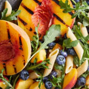 Grilled Peach and Blueberry Salad